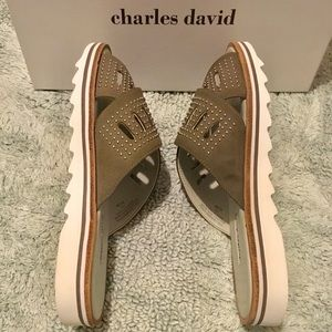 Charles David Shoes - CHARLES DAVID GRAY SNEAKY SPORT SANDAL SZ 8.5